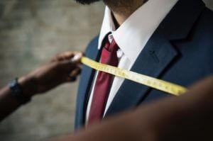 男性スーツ測定