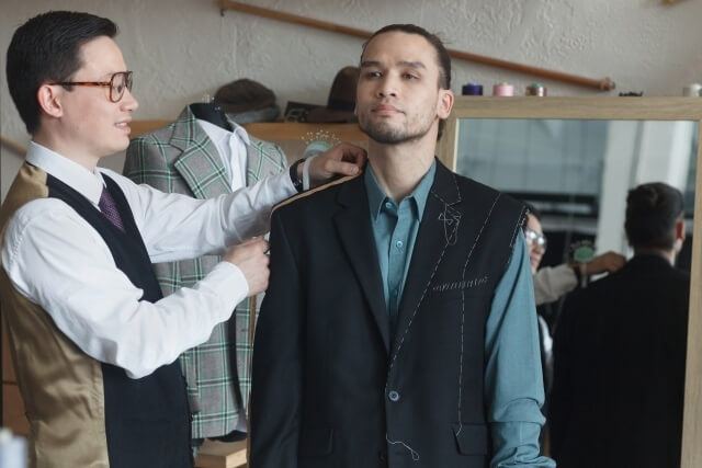 in the tailor shop